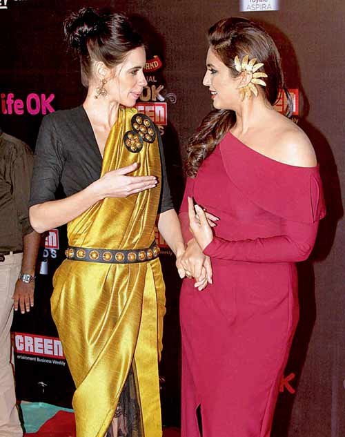 Kalki Koechlin (left) and Huma Qureshi