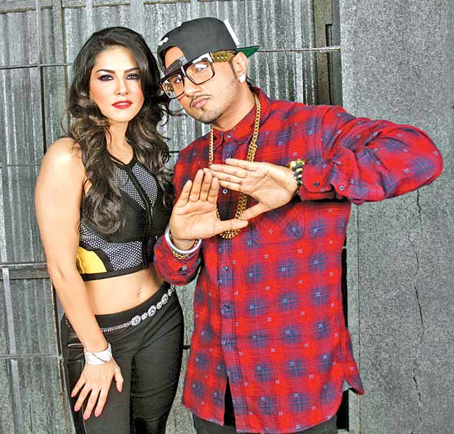 Sunny Leone  and rapper Yo Yo Honey Singh