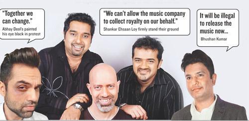 Abhay Deol, Shankar Ehsaan Loy and Bhushan Kumar