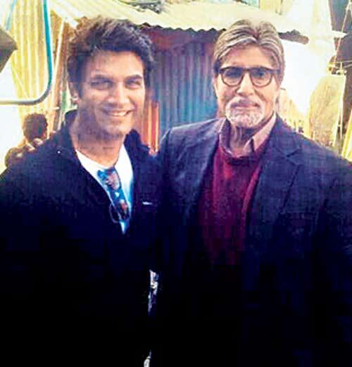 Sharad Kelkar and Amitabh Bachchan