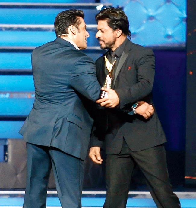 Salman Khan and Shah Rukh Khan at the event