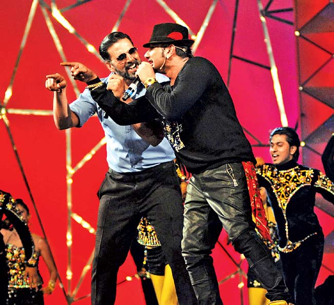 Akshay Kumar and Honey Singh