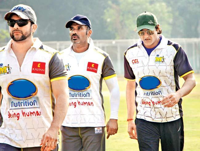 Aftab Shivdasani, Suniel Shetty and Armaan Kohli