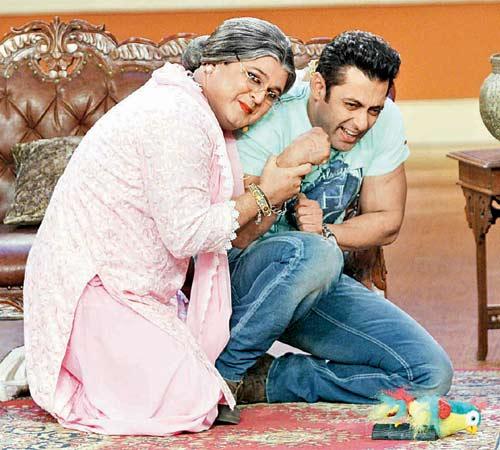 Salman Khan with Ali Asgar