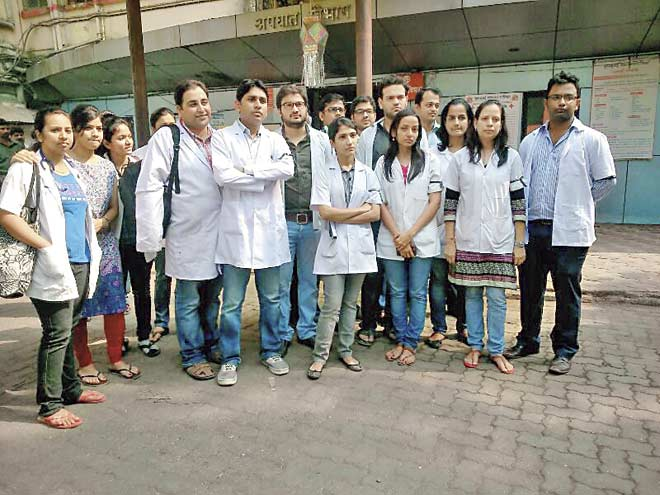 Following the attack on Dr Gaurav Adankar, doctors said that they wanted a police station inside the hospital and demanded more security personnel at night