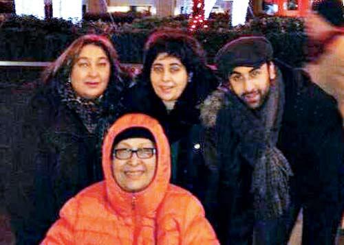 From left: Rima Jain, Ritu Nanda, Natasha Nanda and Ranbir Kapoor
