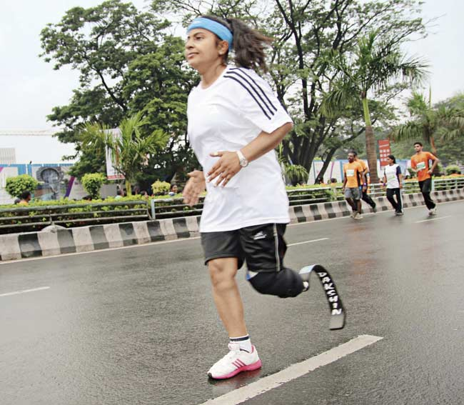 Kiran Kanojia, who works in Hyderabad, is the only female blade runner who will participate in the Dream Run tomorrow