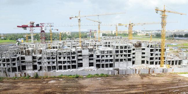 Site in Virar where the MHADA flats are being built. File Pic