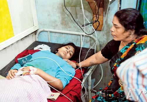 Lying in her hospital bed, Mamta Maurya is worried that she will not be able to manager her studies