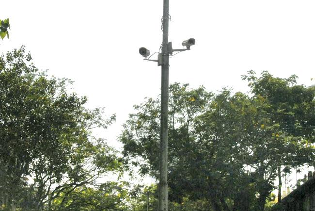 Two cameras seen near the flower market at Matunga Circle