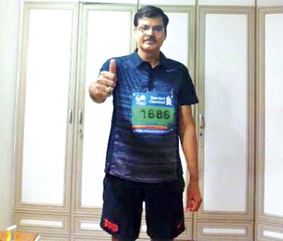 While Pratap Singh managed to complete the marathon despite suffering from flu