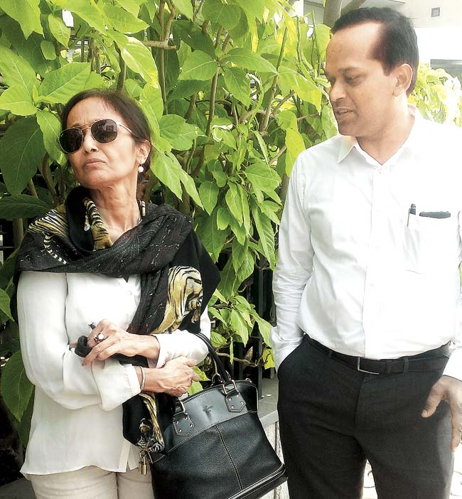 Rabiya Khan and her lawyer at the US Consulate in BKC. She approached the US to investigate the death of her daughter, as Jiah was a US citizen and had an American passport
