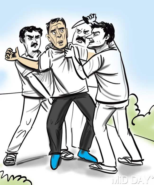 Parish said that 3 robbers assaulted him around 6.30 am on Tuesday, while he was out jogging near NITIE in Powai