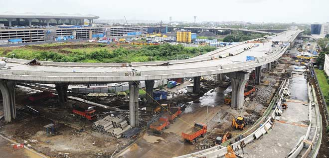 With 27-metre-wide carriageway, the Sahar Elevated Road is the widest bridge in the country. File pic