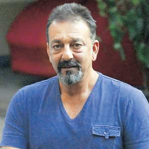 Past Breathers: Sanjay Dutt had earlier been granted a 14-day medical furlough in the beginning of October, which was extended further by another 14 days on health grounds. File Pic